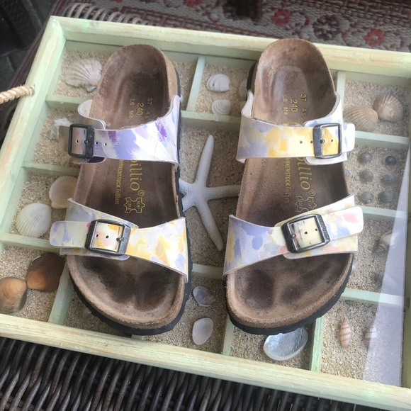 4e5ac51de702 Birkenstock Papillio Shoes - Birkenstock. Papillio watercolor print 🌸